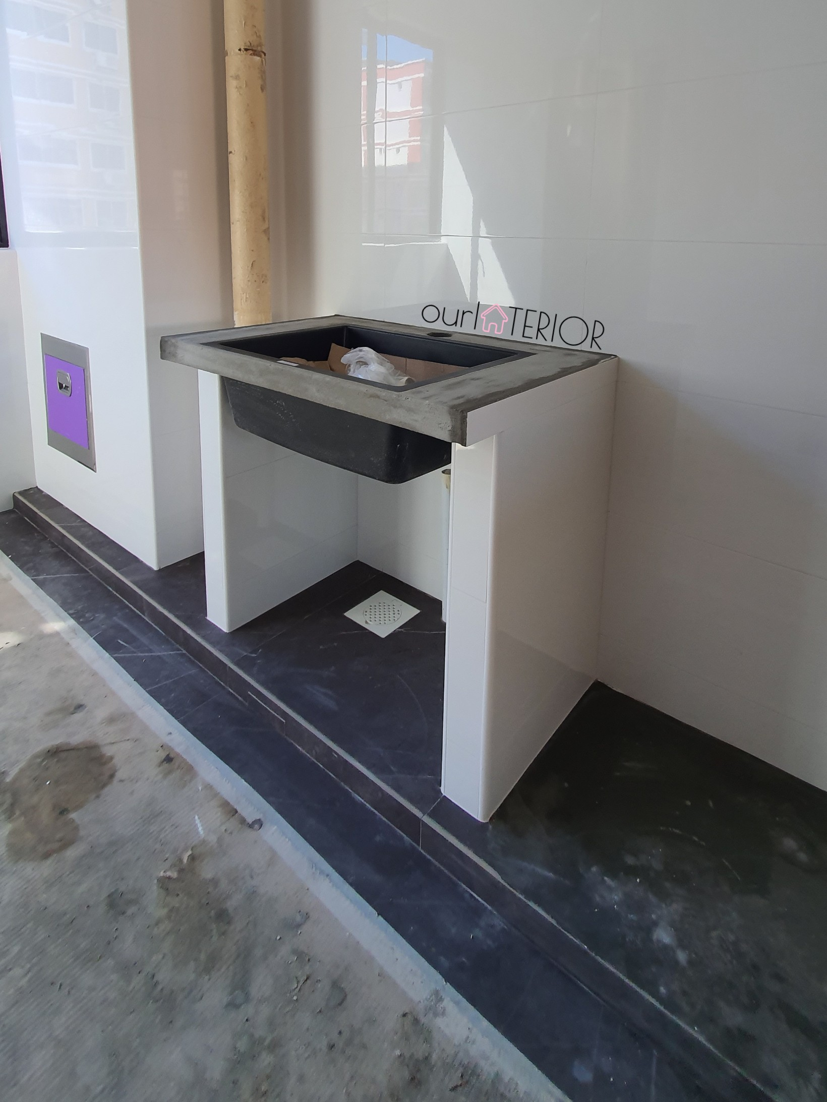 Concrete Dapoh Slab/Vanity Top