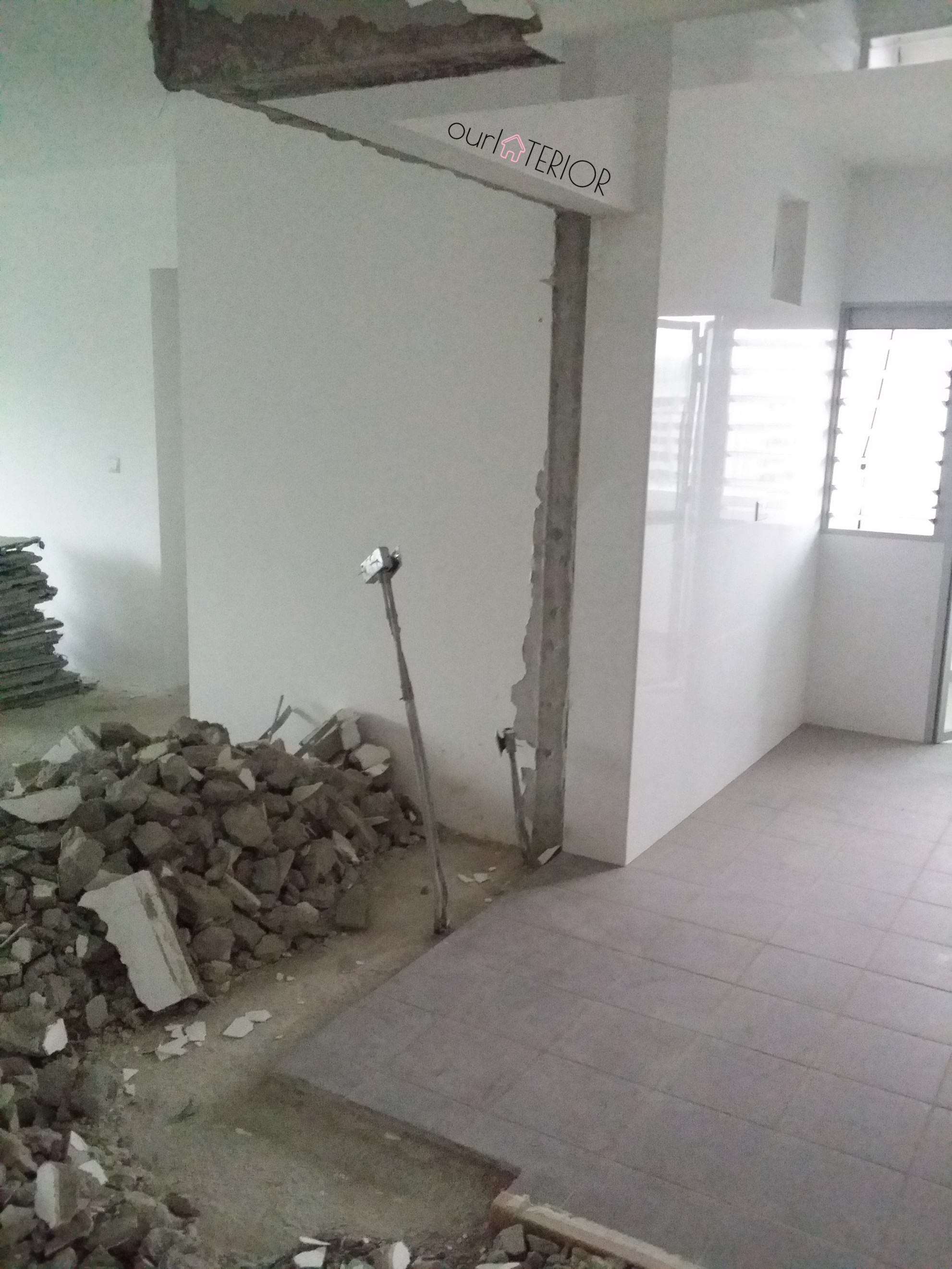 Demolition of Wall
